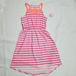 NWT 💜 SO Girl's Asymmetric Striped Maxi Sundress